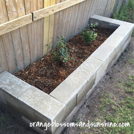 Simple Cinder Blocks Raised Garden Bed - Orange Blossoms and Sunshine