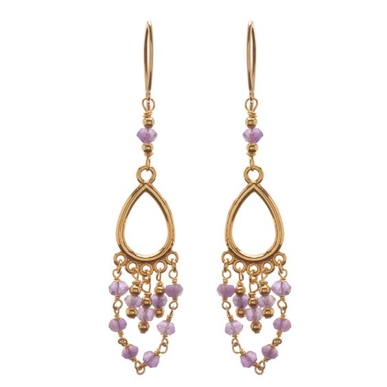 Tutorial - How to: Gilded Amethyst Earrings | Beadaholique