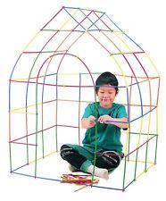 230 PC STRAWS CONNECTORS Preschool Kids Toy Building Construction Christmas Gift