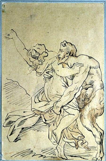 Géricault, Jean Louis Théodore (1791-1824) - Nymphe und Satyr