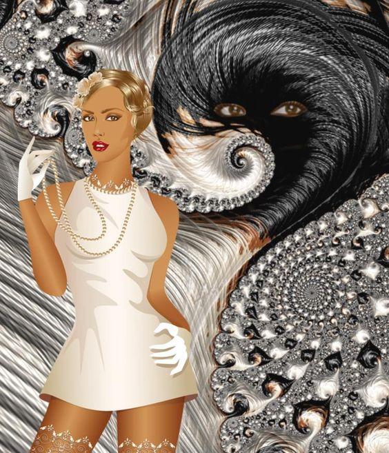 Fractal Series / Lady, you are being watched! - :) - Gerd Schremer @Bazaart