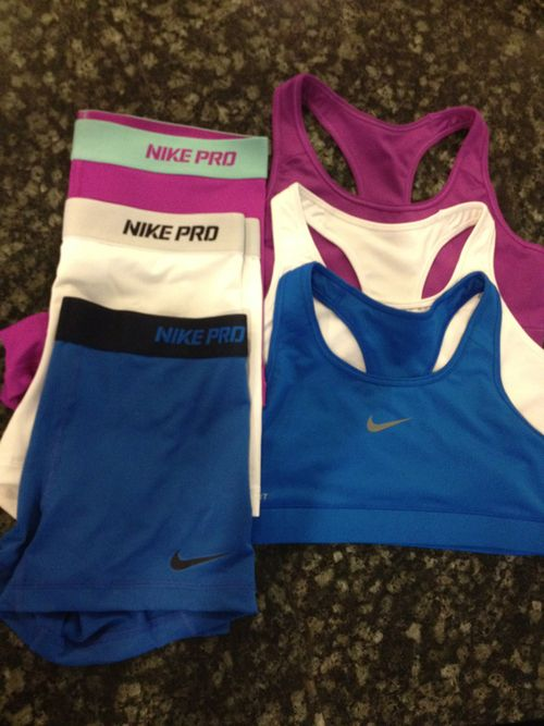 nike pro shorts, and sports bras, what every cheer leader craves for christmas