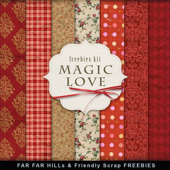 New Freebies Kit of Background - Magic Love