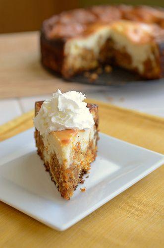 oh. my.  Carrot Cake Cheesecake