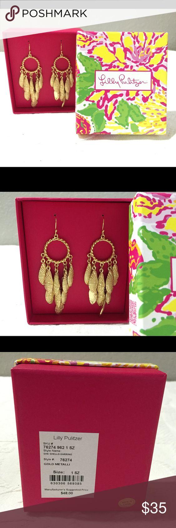 Lilly Pulitzer She Shells Earrings Nib Brand New Lilly Earrings, Box  Included Lilly Pulitzer Jewelry