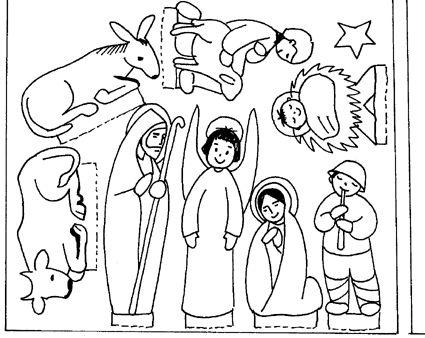Catequese Nossa Senhora de Lourdes: Presépios para montar