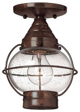 Cape Cod Transitional Outdoor Flush Mount Ceiling Light --for back hall?