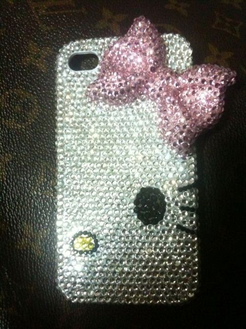 Hello Kitty jeweled phone case <3