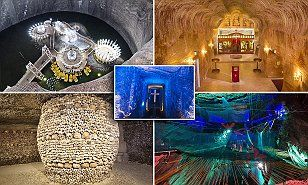 Here, MailOnline Travel reveals the best beneath-the-surface experiences including aneerie world of underground living in Australia to neon trampolines and slides in Wales.