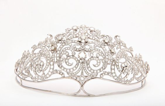 A modern diamond tiara