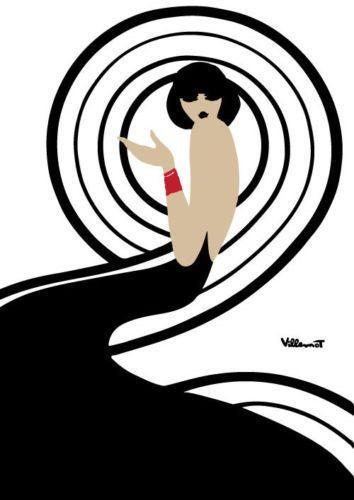 Bally remolino Retro póster impresión cartel Vintage - francés, Vintage, Art…