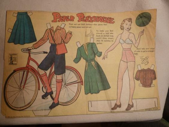 Paper Playhouse paper doll 1942 from Ebay