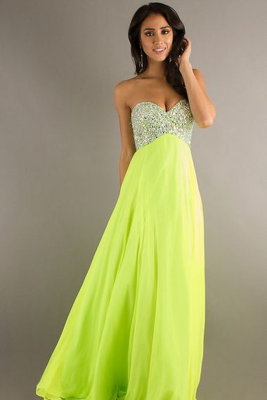 Shop 2013 Prom Dresses Empire Sweetheart Floor length Chiffon with Rhinestone PCASAZCD & gowns inexpensive, formal & vogue party dresses boutique online.