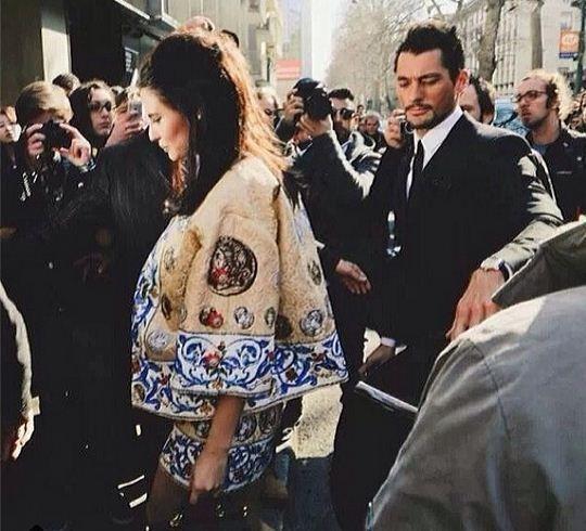 David Gandy with ex-girlfriend Bianca