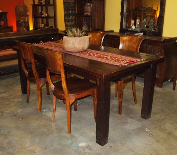 Reclaimed Teak Dining Table U0026 Teak Chairs From GadoGado.com. Indonesian /  Bali Furniture | Gado Gado Indonesian Furniture Gallery | Pinterest | Teak,  ...