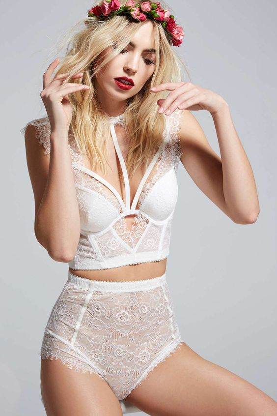 Love, Courtney by Nasty Gal Sugar Coma High-Waisted Lace Panty | Shop Clothes at Nasty Gal!