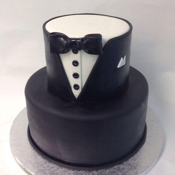 Tuxedo Cake Cakes Pinterest Fondant Cakes Beautiful
