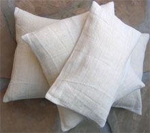 Vintage Pillow covers made from soft hemp & cotton blend (Transylvanian Images)