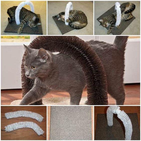 16 juguetes caseros para gatos que pondrán a tu minino como loco ¡y sin gastar mucho dinero!   #gato #juguetescaseros #creatividad