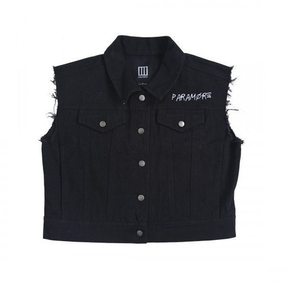 Frayed Denim Vest ($55) ❤ liked on Polyvore featuring outerwear, vests, vest waistcoat, denim vest, denim cut offs, cropped denim vest and denim waistcoat