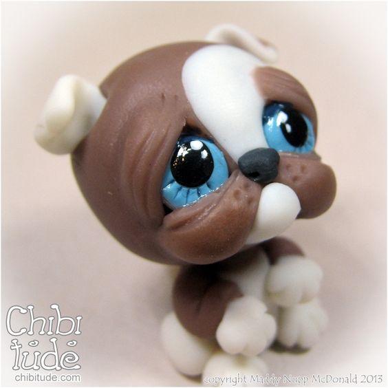 Chibitude Chibi Baby Puppy - Variety Polymer Clay OOAK Handmade 20140120008