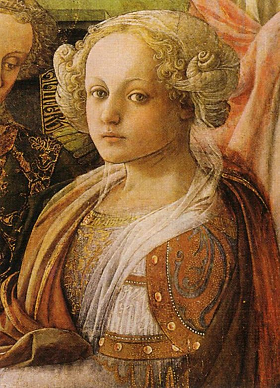 Fra Filippo Lippi - Coronation of the Virgin (detail) (tempera on panel, 1441 - 1447)