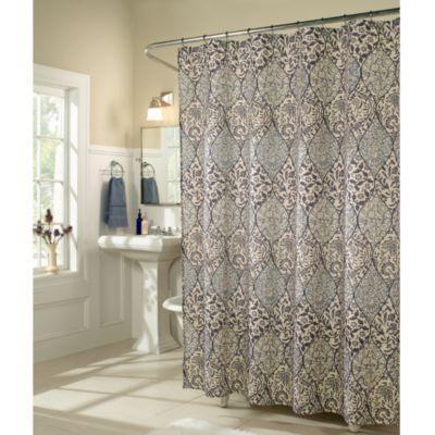 Slate Blue And Brown Shower Curtains Curtain Menzilperde Net