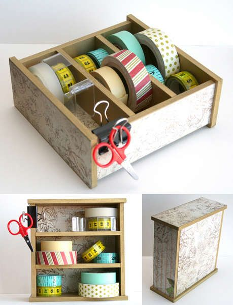 K & Co Mini Storage  Ooooooh washi tape storage!!!