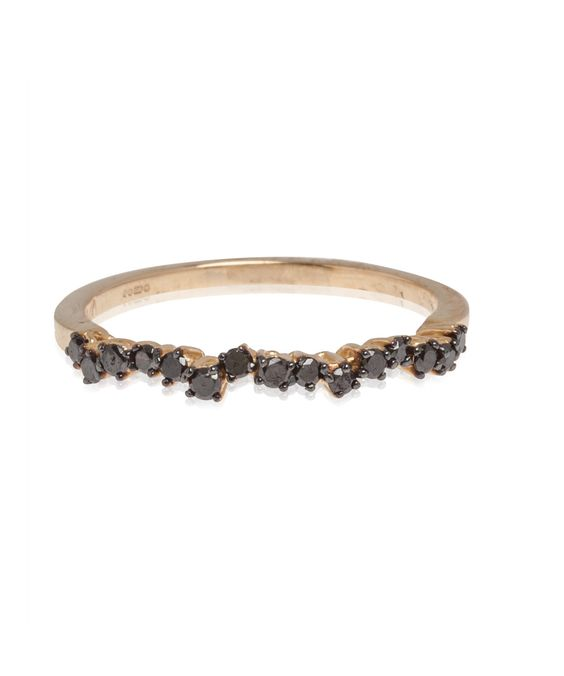 Black Diamond Wave Band Ring, Suzanne Kalan. Shop the latest rings from the Suzanne Kalan collection