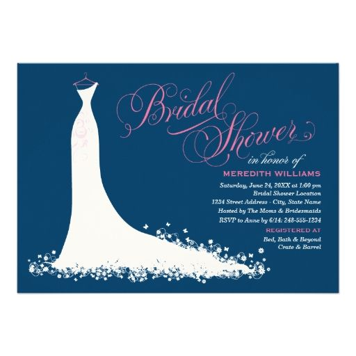 Bridal Shower Invitation | Elegant Wedding Gown Announcement