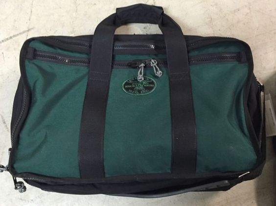 Red OXX Air Boss Dark Green Carry on Luggage Made in USA | eBay