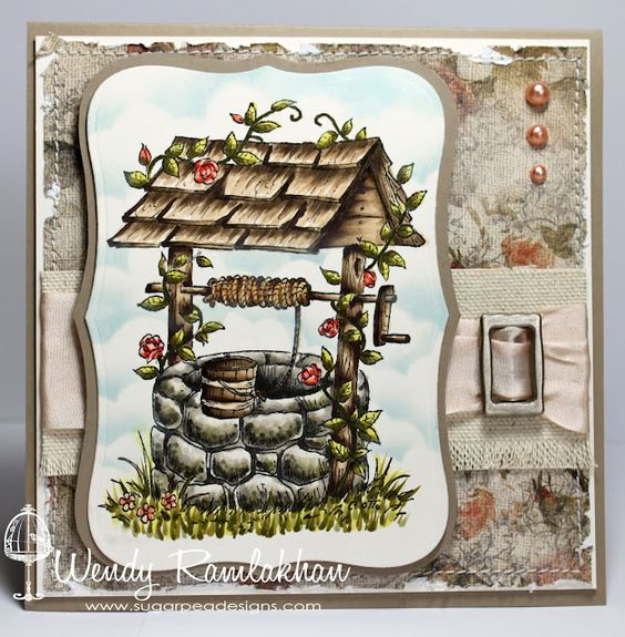 Wendy Ramlakhan of SugarPea Designs  Stamp - Heartfelt Creations  Ribbon Carousel -  Champagne Silk