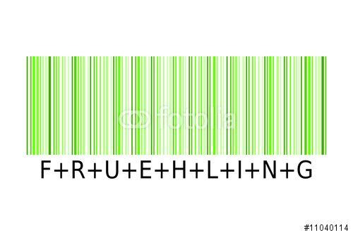 """Laden Sie den lizenzfreien Vektor """"Barcode Frühling"""" zum günstigen Preis herunter. Stöbern Sie in unserer Bilddatenbank https://de.fotolia.com/partner/200576682 und finden Sie schnell das perfekte Stockbild."""