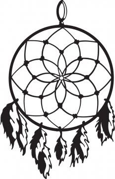 Pix for simple dreamcatcher all about ally pinterest for Dreamcatcher tattoo template