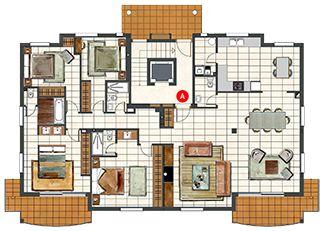 4 Bedroom Penthouse - Luxury Apartments in Majorca - Zinnia Apartment