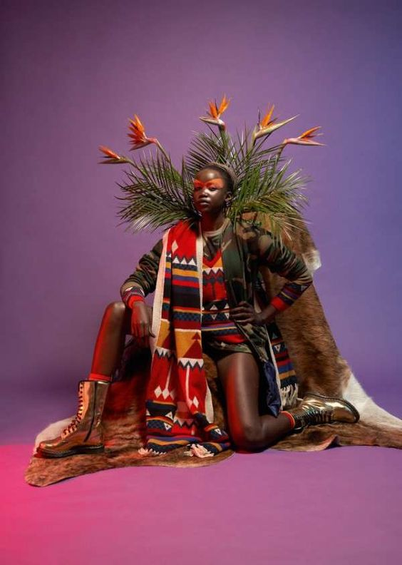 Tribal-Influenced Western Fashion - The WAD Magazine 'Cocktail' Editorial is Vibrantly Exotic (GALLERY)