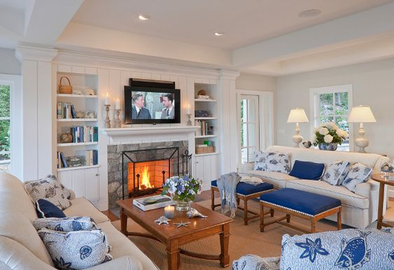 check out the coffee tables- might work? Classic Shingle Coastal Home