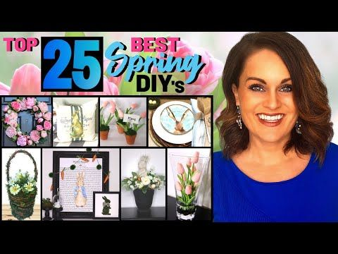 Absolute Top 25 Best Spring Diy Home Decor Projects On A Budget Youtube Spring Diy Diy Dollar Tree Decor Spring Decor Diy
