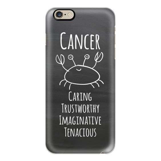 iPhone 6 Plus/6/5/5s/5c Case - Zodiac - Cancer - Chalkboard ($40) ❤ liked on Polyvore featuring accessories, tech accessories, iphone case, slim iphone case, apple iphone cases and iphone cover case