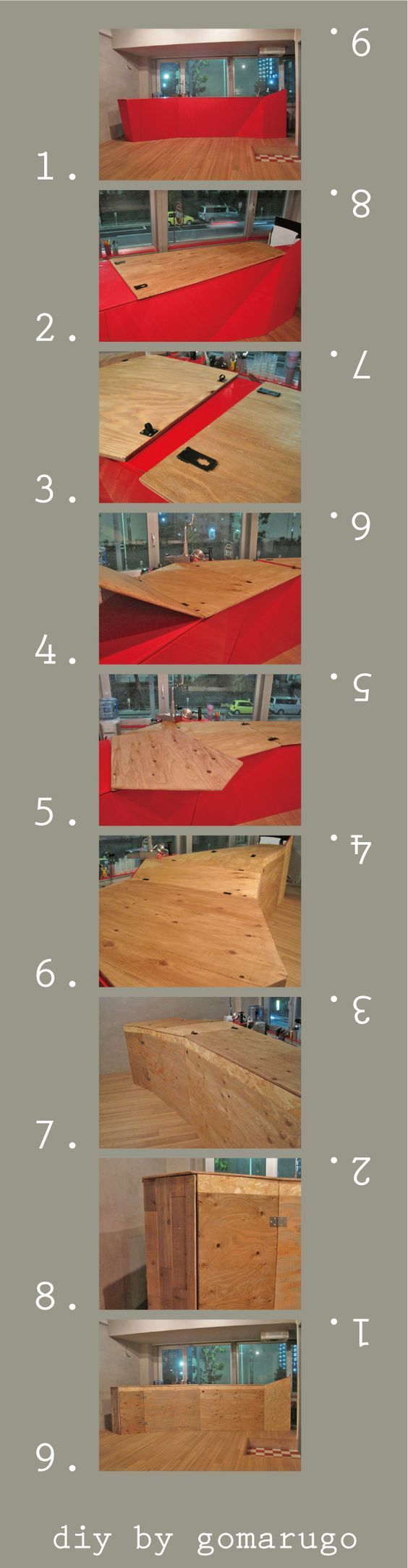 diy by gomarugo  ////  kitchen / plywood