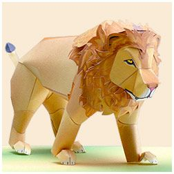 Paper lion you cut and build yourself. Thanks Yamaha! There are lots more others including extensive motorcycle builds, lol!