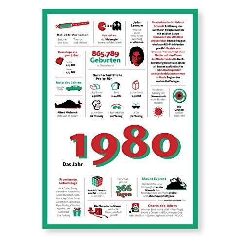 Tolle Geschenkidee Jahreschronik 1980 Amazon De Handmade 40th