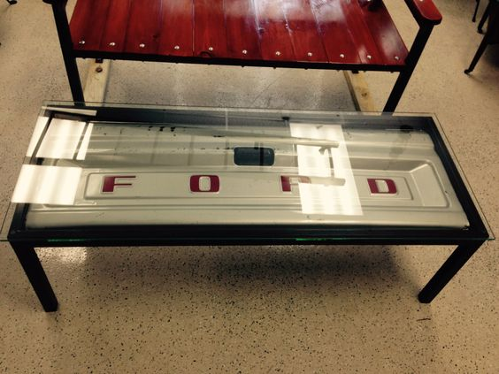 Ford Tailgate Coffee Table by AntiqueRescueLLC on Etsy https://www.etsy.com/listing/234114291/ford-tailgate-coffee-table