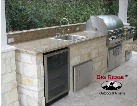 Big Ridge Austin 14 Outdoor Kitchen Package Choose The Frame Kit Diy Level Choose Outdoor Kitchen Kits Outdoor Kitchen Design Layout Outdoor Kitchen Design
