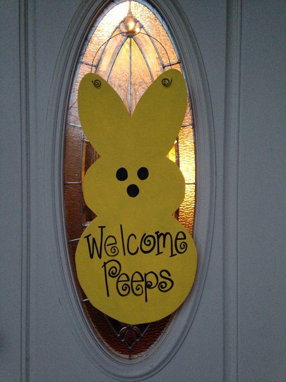 Bunny Door Hanger Rabbit Door Hanger Spring Door Hanger