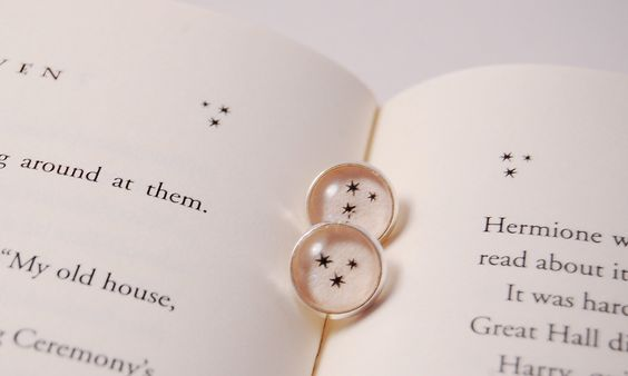 Harry Potter Earrings with Stars.