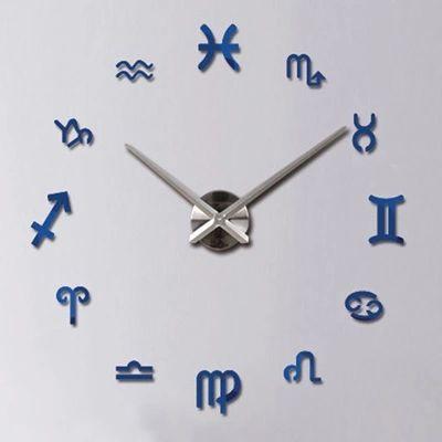 Reloj adhesivo de pared símbolos del zodíaco