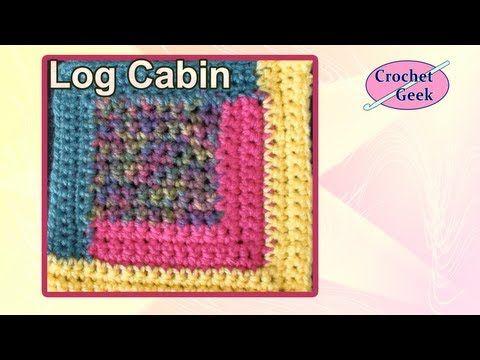 ▶ How to make the Log Cabin Crochet Block Free Crochet Pattern - YouTube
