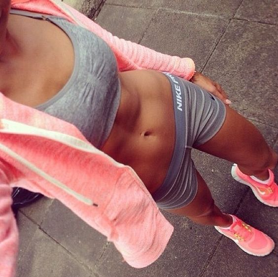 Cute workout outfit........My goal will be to wear a two piece workout outfit.