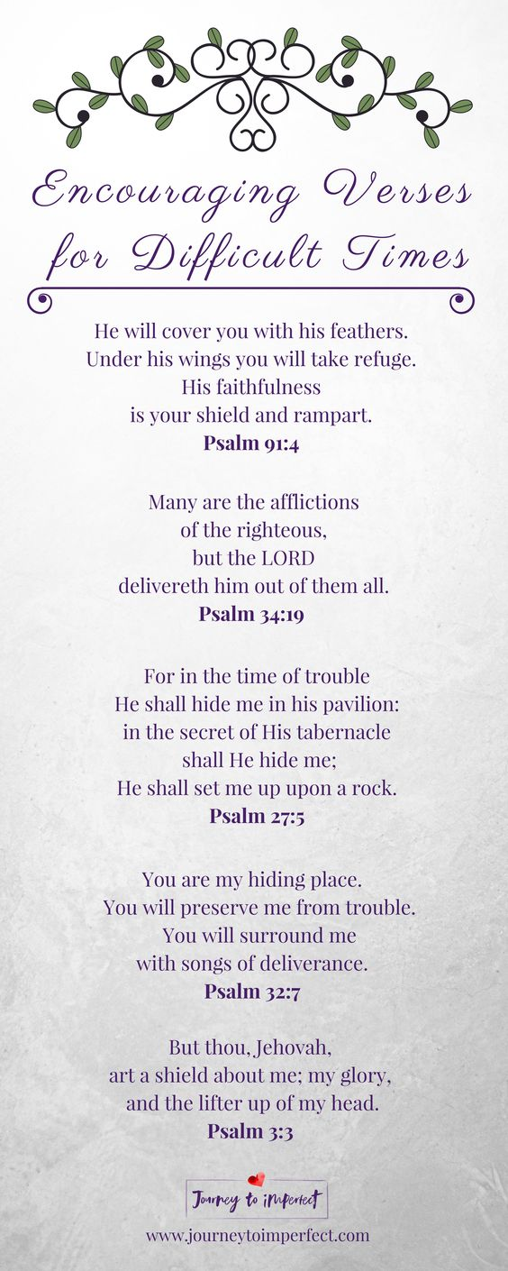 Psalms: Encouraging verses for difficult times